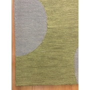 Eastern Weavers Wool Hand-Tufted Silver/Green Area Rug