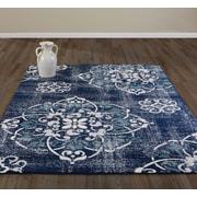 Diagona Designs Jasmin Navy/Blue Area Rug; 5'3'' x 7'3''
