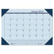 HOUSE OF DOOLITTLE EcoTones Academic Desk Pad Calendar; Blue