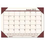 HOUSE OF DOOLITTLE EcoTones Academic Desk Pad Calendar; Cream/Brown