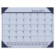 HOUSE OF DOOLITTLE EcoTones Academic Desk Pad Calendar; Orchid
