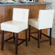 Home Loft Concepts 26'' Bar Stool (Set of 2); Ivory