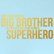 SweetumsWallDecals Big Brother Wall Decal; Gold