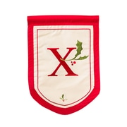 Evergreen Enterprises, Inc Holiday Monogram Garden Flag; X