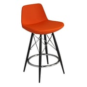Modern Chairs USA Lyra 29'' Bar Stool; Orange Wool