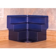 FunDisplay Corner Free-Standing Spice Rack; Cobalt Blue
