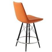 Modern Chairs USA Electra 29'' Bar Stool; Faux Leather - Orange