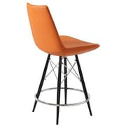 Modern Chairs USA Electra 24'' Bar Stool; Faux Leather - Orange