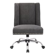 Inspired by Bassett Alyson Mid-Back Desk Chair; Charcoal