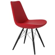 Modern Chairs USA Electra Side Chair; Eco Leather - Red