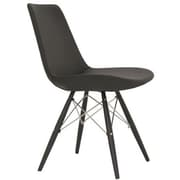 Modern Chairs USA Electra Side Chair; Eco Leather - Black