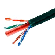 1000FT Cat6 Bulk Bare Cable Copper Ethernet Cable, UTP, Solid, Riser Rated (CMR), 350MHz, 23AWG - Green - GENERIC