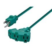 35ft 16/3 SJTW Green Outdoor Ext. Cord w/ EZ Grip Triple Tap