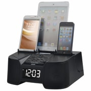 DOK 6 Port Smart Phone Charger with Bluetooth, Alarm, Clock, FM Radio (CR68)