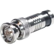 C2G® RG6 Compression BNC Video Connector, Chrome (41126)