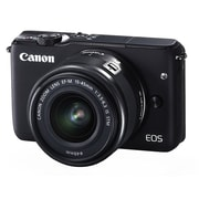 Canon® EOS M10 18 MP Mirrorless Camera with Lens, 3x, 15 mm - 45 mm, Black