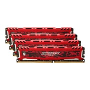 Crucial™ Ballistix Sport LT 32GB (4 x 8GB) DDR4 SDRAM UDIMM DDR4-2400/PC4-19200 Memory Module, Red (BLS4K8G4D240FSE)