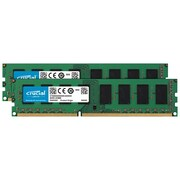 Crucial™ 4GB (2 x 2GB) DDR3L SDRAM UDIMM DDR3L-1600/PC3-12800 Desktop Memory Module (CT2K25664BD160B)