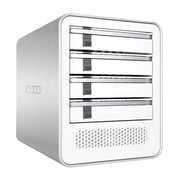 "Icy Dock® ICYCube Quad Bay 2.5""/3.5"" SATA Drive Enclosure, White/Silver (MB561U3S4SR1)"