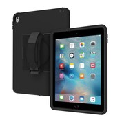 """Incipio® Capture IPD323BLK Polycarbonate/Polymer Rugged Case with Rotating Hand Strap for 9.7"""" iPad Pro, Black"""