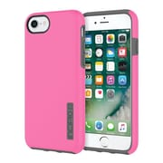 Incipio® DualPro The Original Dual Layer Protective Case for iPhone 7, Pink/Charcoal (IPH1465PKC)
