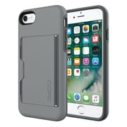 Incipio® STOWAWAY Credit Card Case with Integrated Stand for iPhone 7, Gray/Charcoal (IPH1477GYC)