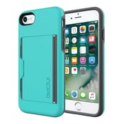 Incipio® STOWAWAY Credit Card Case with Integrated Stand for iPhone 7, Turquoise/Charcoal (IPH1477TQC)