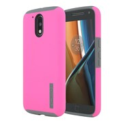 Incipio® DualPro Impact Absorbing Core Hard Shell Case for Moto G4/Moto G4 Plus, Pink/Gray (MT375PKGY)