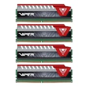 Patriot™ Viper Elite 64GB (4 x 16GB) DDR4 SDRAM UDIMM DDR4-2800/PC4-22400 Memory Module, Black/Red (PVE464G280C6QKR)