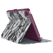 "speck® StyleFolio 71805C175 Leather Case for 7.9"" iPad mini 4, Vintage Bouquet Gray/Boysenberry Purple"