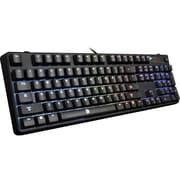 Thermaltake® Tt eSPORTS® POSEIDON Z Wired Mechanical Keyboard, Black/Blue