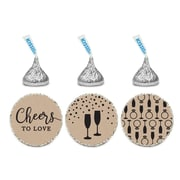 Koyal Wholesale 216 Piece Cheers to Love Chocolate Drop Label Set
