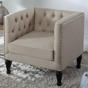 BestMasterFurniture Tufted Chair and a Half