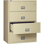 Phoenix Safe International 4-Drawer Fireproof Key Lock File Safe; Putty
