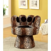 A&J Homes Studio Paus Accent Chair in Leopard