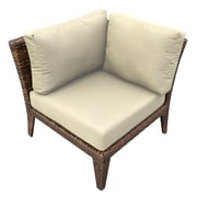 TK Classics Manhattan Deep Seating Chair w/ Cushions; Beige