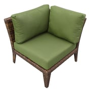 TK Classics Manhattan Deep Seating Chair w/ Cushions; Cilantro