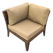 TK Classics Manhattan Deep Seating Chair w/ Cushions; Sesame