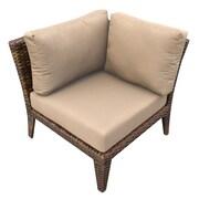 TK Classics Manhattan Deep Seating Chair w/ Cushions; Wheat