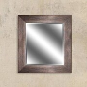 Y Decor Bronze Reflection Beveled Wall Mirror