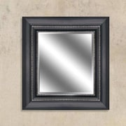Y Decor Black/Silver Reflection Beveled Wall Mirror