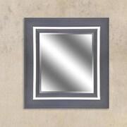 Y Decor Espresso Champagne Reflection Beveled Wall Mirror