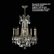 Worldwide Lighting Windsor 8-Light Crystal Chandelier; Golden Teak