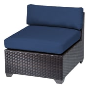 TK Classics Belle Armless Chair w/ Cushions; Navy