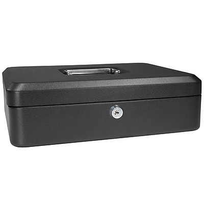 Barska Large Black Cash Box w/ Key