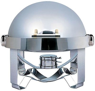 SMART Buffet Ware Large Odin Round Roll Top Chafing Dish w/ Stainless Steel Legs and Spoon Holder WYF078279844321