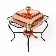 Star Home Copper 2 Qt. Square Plated Chafing Dish