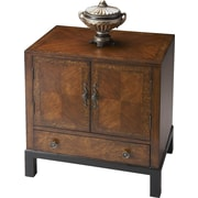 Butler Courtland 1 Drawer Cabinet; Antique Brass