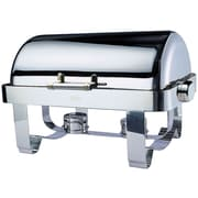 Odin Oblong Roll Top Chafing Dish 5-qt w/ Stainless Steel Legs, Heater and Spoon Holder