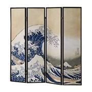Wildon Home   70'' x 68'' Wave Fukusai Shoji 4 Panel Room Divider